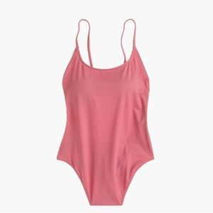 NWOT J. Crew Playa Newport Pink One Piece Swimsuit
